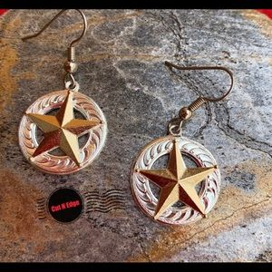 Montana Silversmith Silver Gold Star earrings